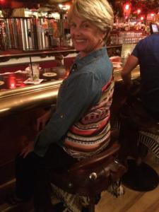 saddling up to bar