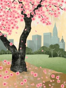 Iwai new york spriing...Japanese poster