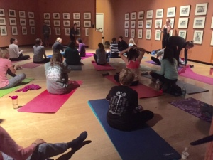 yoga in gallary
